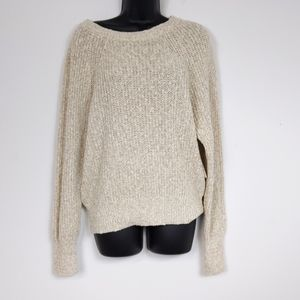 Free People Electric City Linen & Cotton Sweater M